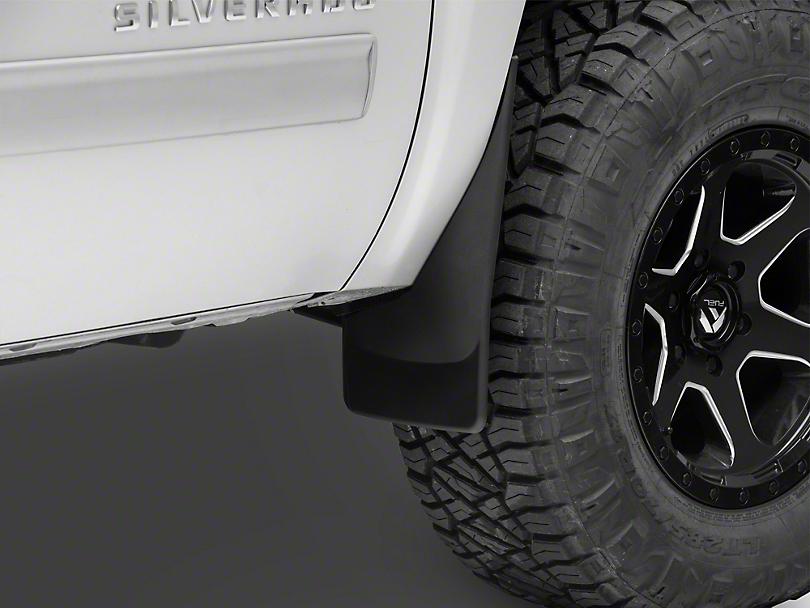 Weathertech No Drill Front MudFlaps - Black (07-13 Silverado 1500 w/o Fender Flares)