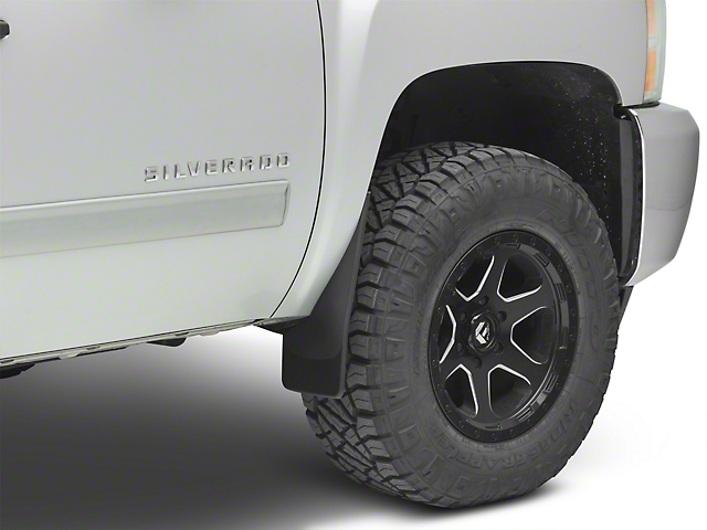 Weathertech No Drill Front & Rear Mud Flaps - Black (07-13 Silverado 1500 w/o Fender Flares)