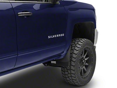 Weathertech No Drill Front & Rear Mud Flaps - Black (14-18 Silverado 1500 w/o Fender Flares)