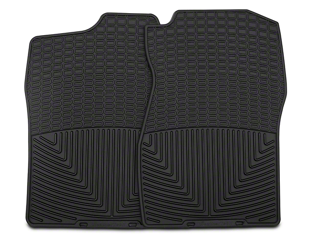 Weathertech All-Weather Front Rubber Floor Mats; Black (07-13 Silverado 1500)