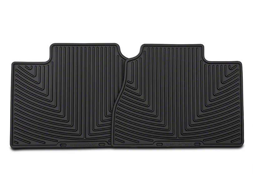 Weathertech All Weather Rear Floor Mats - Black (07-13 Silverado 1500 Extended Cab, Crew Cab)