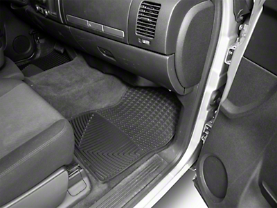 Weathertech All Weather Front & Rear Floor Mats - Black (07-13 Silverado 1500 Extended Cab, Crew Cab)