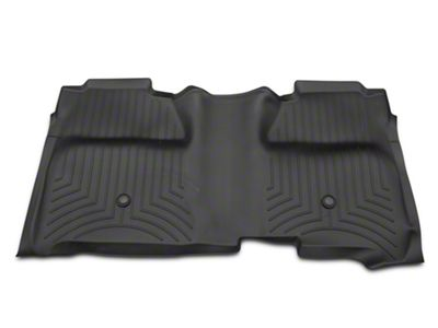 Weathertech DigitalFit Rear Floor Liner w/ Underseat Coverage - Black (14-18 Silverado 1500 Crew Cab)
