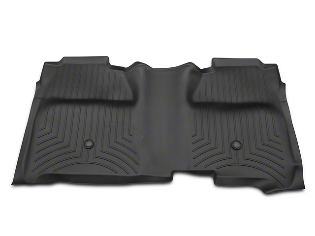 Weathertech DigitalFit Rear Floor Liner with Underseat Coverage; Black (14-18 Silverado 1500 Crew Cab)