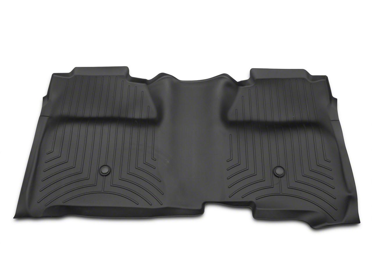 Weathertech DigitalFit Rear Floor Mat w/ Underseat Coverage - Black (14-18 Silverado 1500 Crew Cab)