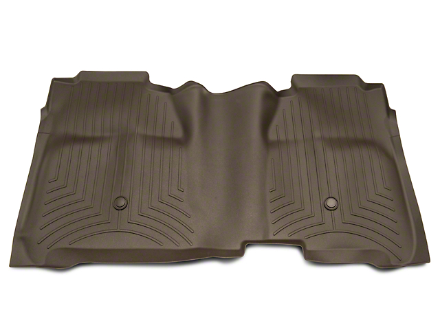 Weathertech DigitalFit Rear Floor Liner with Underseat Coverage; Cocoa (14-18 Silverado 1500 Crew Cab)
