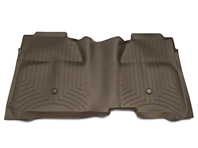 Weathertech DigitalFit Rear Floor Liner w/ Underseat Coverage - Cocoa (14-18 Silverado 1500 Crew Cab)