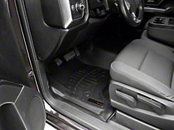 Weathertech DigitalFit Front Over the Hump and Rear Floor Liners with Underseat Coverage; Black (14-18 Silverado 1500 Crew Cab)