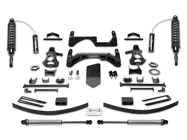 Fabtech 6 in. Performance Lift System w/ Dirt Logic 2.5 Coilover Reserviors & Shocks (07-13 4WD Silverado 1500 Extended Cab, Crew Cab)