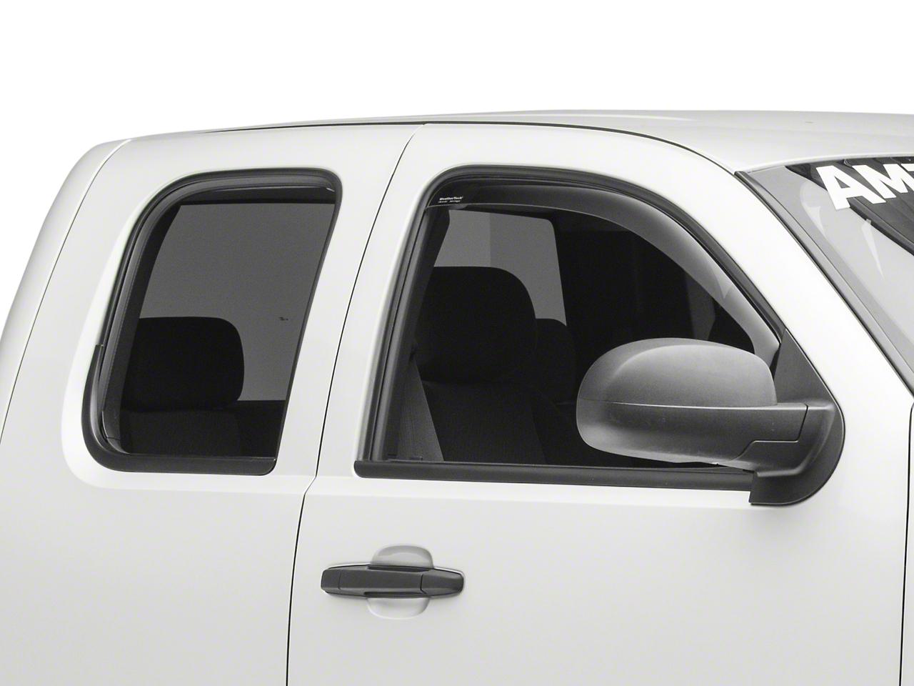 Weathertech Front Side Window Deflectors - Dark Smoke (07-13 Silverado 1500)