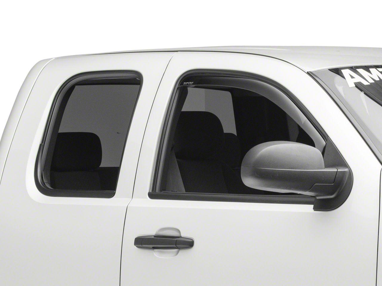 Lightronic WV194528 in-Channel Window Visors Rain Guards Smoke Tint 4PCS Set for 2014-2018 Silverado//Sierra 1500 with Extended Cab; 2015-2018 Silverado//Sierra 2500HD /& 3500HD with Extended Cab