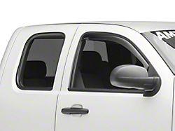 Weathertech Window Deflectors; Front; Dark Smoke (07-13 Silverado 1500)