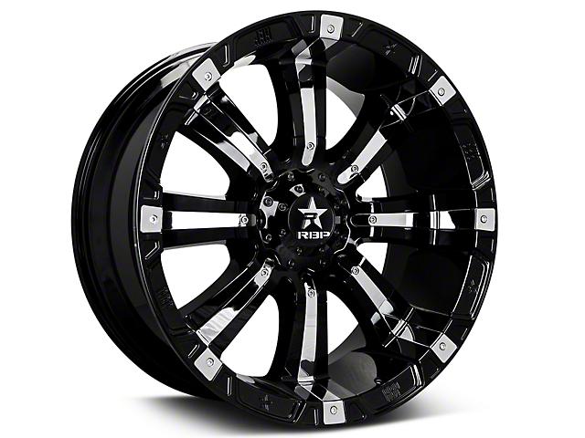 RBP 94R Black w/ Chrome Inserts 6-Lug Wheel - 20x10 (07-18 Silverado 1500)