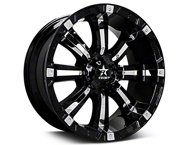 RBP 94R Black w/ Chrome Inserts 6-Lug Wheel - 20x10 (07-18 Silverado 1500)