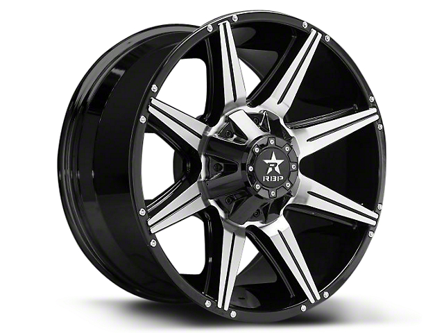 RBP 98R Black Machined 6-Lug Wheel - 20x9 (07-18 Silverado 1500)