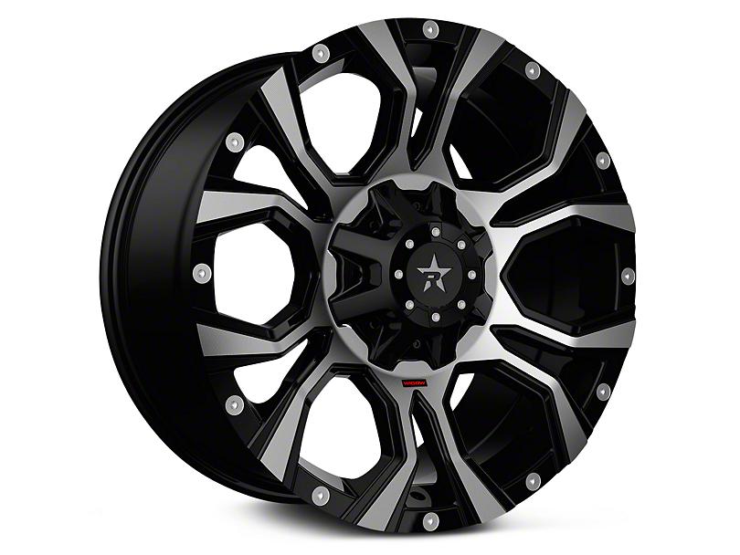 RBP 64R Widow Machined Black 6-Lug Wheel - 20x10 (99-18 Silverado 1500)
