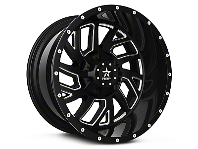 RBP 65R Glock Gloss Black Machined 6-Lug Wheel - 20x10 (07-18 Silverado 1500)
