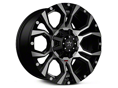 RBP 64R Widow Machined Black 6-Lug Wheel - 18x9 (99-18 Silverado 1500)