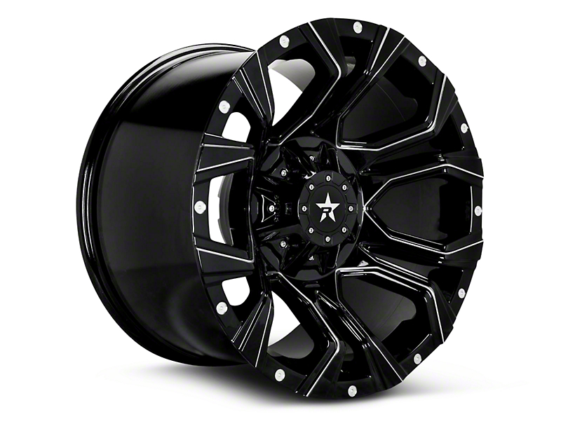 RBP 64R Widow Gloss Black Machined 6-Lug Wheel - 18x9 (99-18 Silverado 1500)