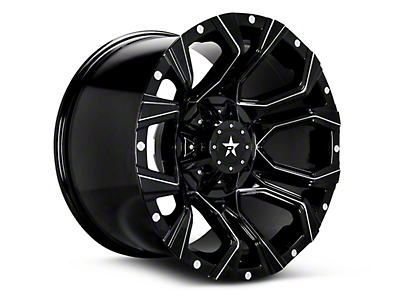 RBP 64R Widow Gloss Black Machined 6-Lug Wheel - 18x9 (99-18 Silverado 1500)