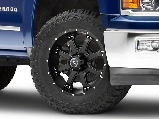 Raceline Assault Black 6-Lug Wheel - 20x9; 0mm Offset (14-18 Silverado 1500)