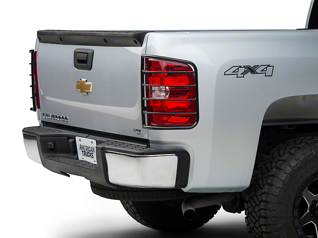 Modern Billet Tail Light Guards - Black (07-13 Silverado 1500)