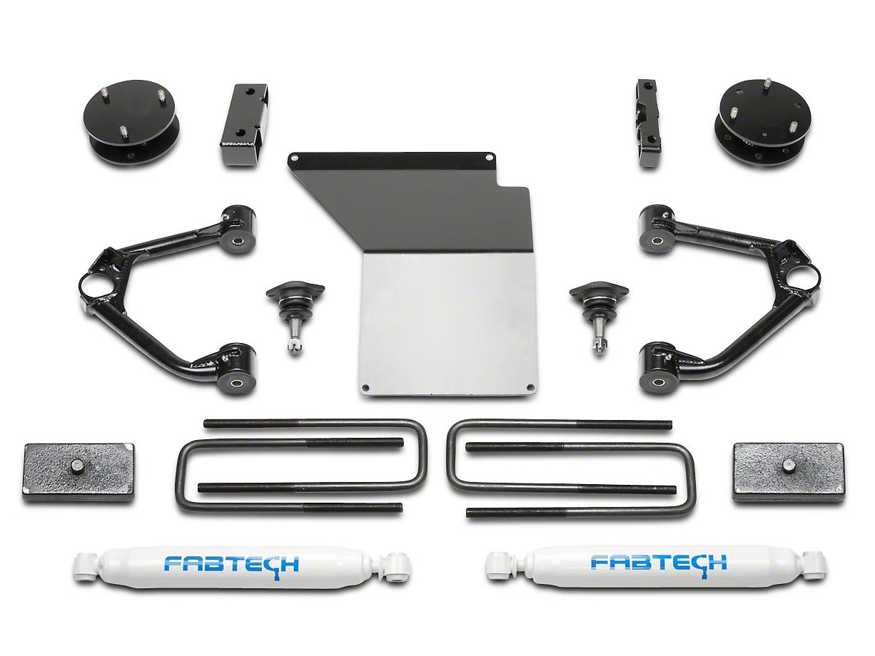 Fabtech 4 in. Budget Lift System w/ Shocks (07-13 2WD/4WD Silverado 1500)