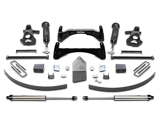 Fabtech 6 in. Performance Lift System w/ Dirt Logic 2.5 Coilovers & Shocks (07-13 2WD/4WD Silverado 1500 Extended Cab, Crew Cab)