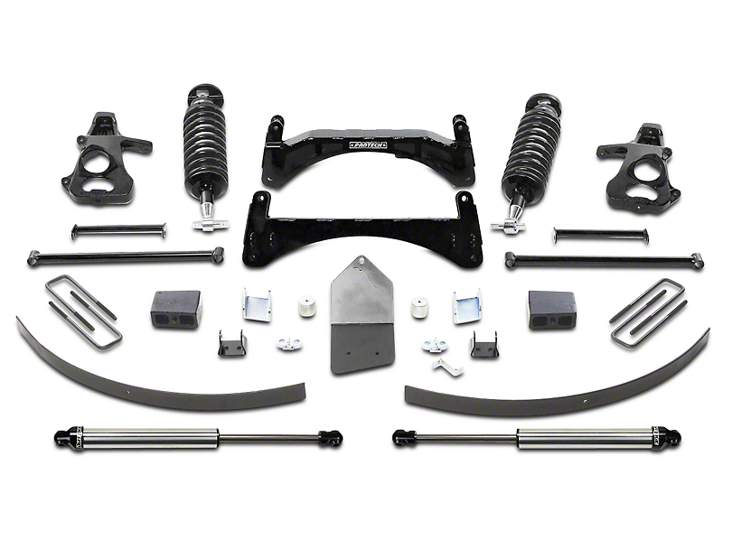 Fabtech 6-Inch Performance Suspension Lift Kit with Dirt Logic 4.0 Coil-Overs and Shocks (07-13 2WD/4WD Silverado 1500 Extended Cab, Crew Cab)