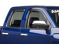 Weathertech Front & Rear Side Window Deflectors - Light Smoke (14-18 Silverado 1500 Crew Cab)