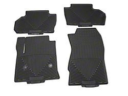 Weathertech All-Weather Front and Rear Rubber Floor Mats; Black (14-18 Silverado 1500 Crew Cab)