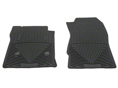 Weathertech All Weather Front Floor Mats - Black (14-18 Silverado 1500 Double Cab, Crew Cab)
