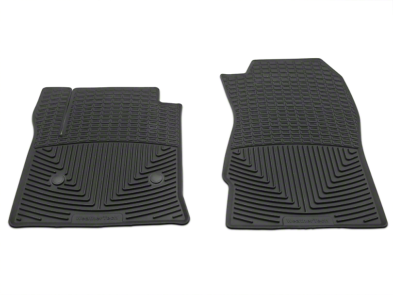 Weathertech All Weather Front Rubber Floor Mats - Black (14-18 Silverado 1500)