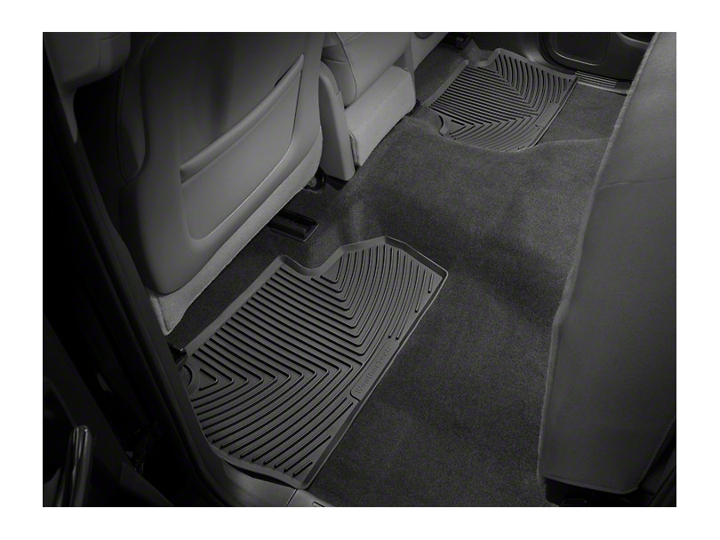 Weathertech All Weather Rear Rubber Floor Mats - Black (14-18 Silverado 1500 Double Cab, Crew Cab)