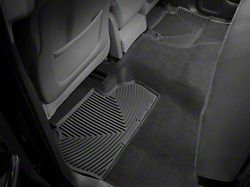 Weathertech All-Weather Rear Rubber Floor Mats; Black (14-18 Silverado 1500 Crew Cab)