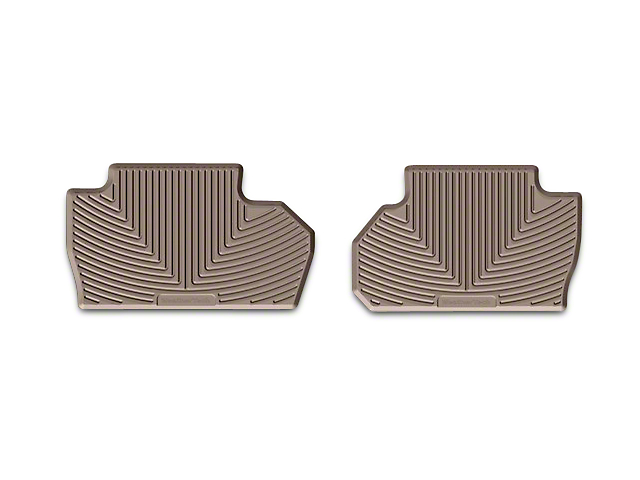 Weathertech All Weather Rear Floor Mats - Tan (14-18 Silverado 1500 Double Cab, Crew Cab)