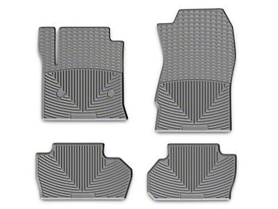 Weathertech All Weather Rear Floor Mats - Gray (14-18 Silverado 1500 Double Cab, Crew Cab)
