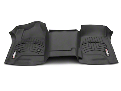 Weathertech DigitalFit Front Floor Liner - Over The Hump - Black (14-18 Silverado 1500 w/o Floor Shifter)