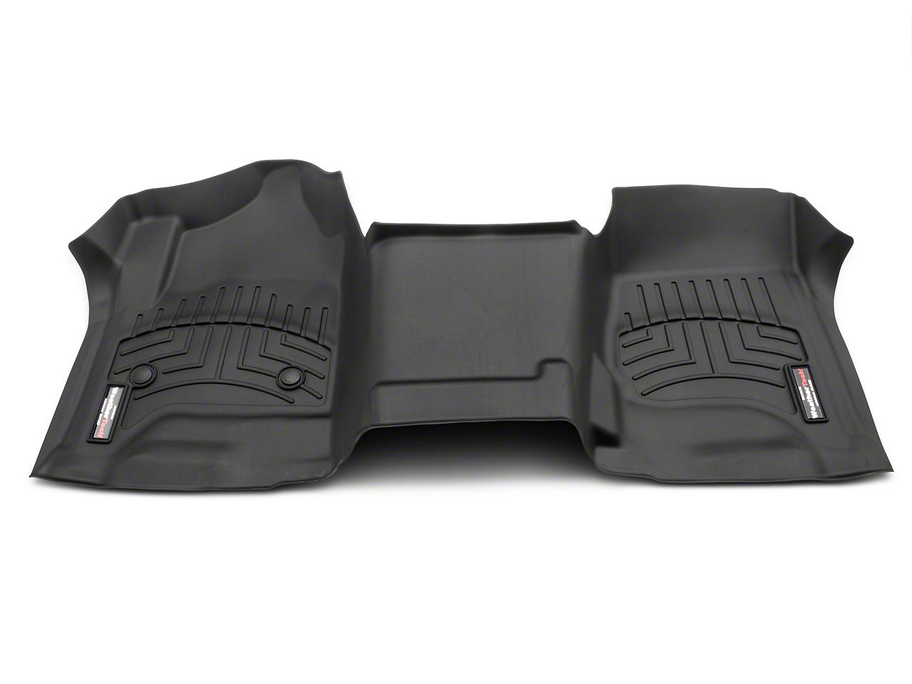 Weathertech DigitalFit Front Floor Liner - Over The Hump - Black (14-18 Silverado 1500 w/o Floor Shifter)