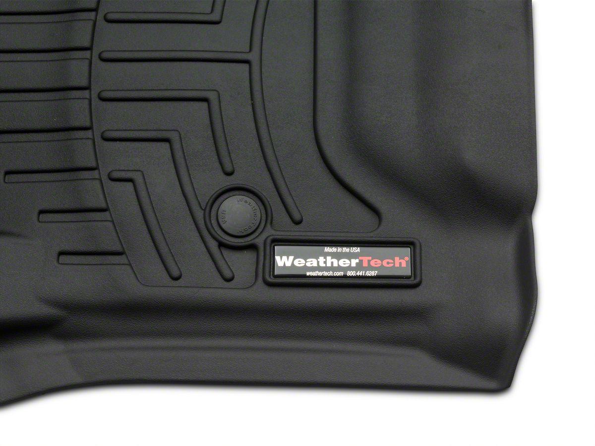 Weathertech DigitalFit Front Over the Hump Floor Liner - Black (14-18  Silverado 1500 w/o Floor Shifter)