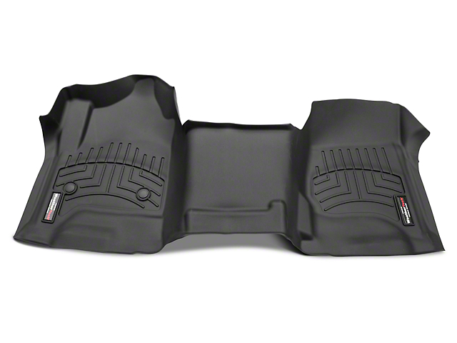 Weathertech DigitalFit Front Floor Liner - Over The Hump - Cocoa (14-18 Silverado 1500 w/o Floor Shifter)