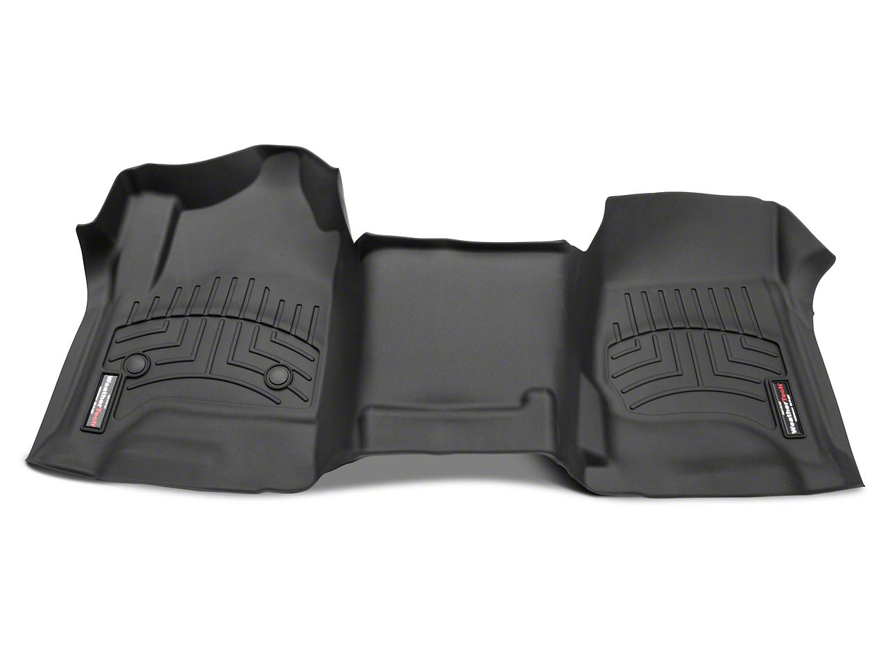 Weathertech DigitalFit Front Floor Liner - Over The Hump - Cocoa (14-18 Silverado 1500 w/o Floor Shifter)