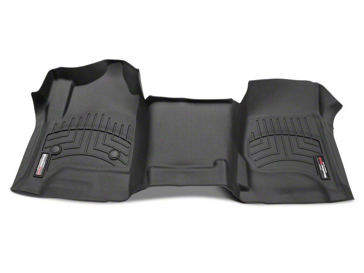 Weathertech DigitalFit Front Over the Hump Floor Liner - Cocoa (14-18  Silverado 1500 w/o Floor Shifter)