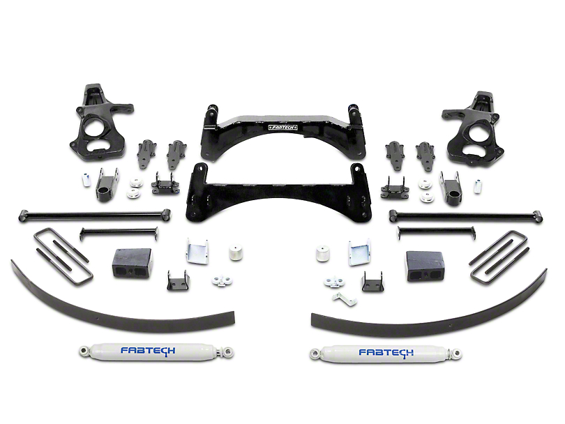Fabtech 6-Inch Basic Suspension Lift Kit with Shocks (07-13 2WD/4WD Silverado 1500)