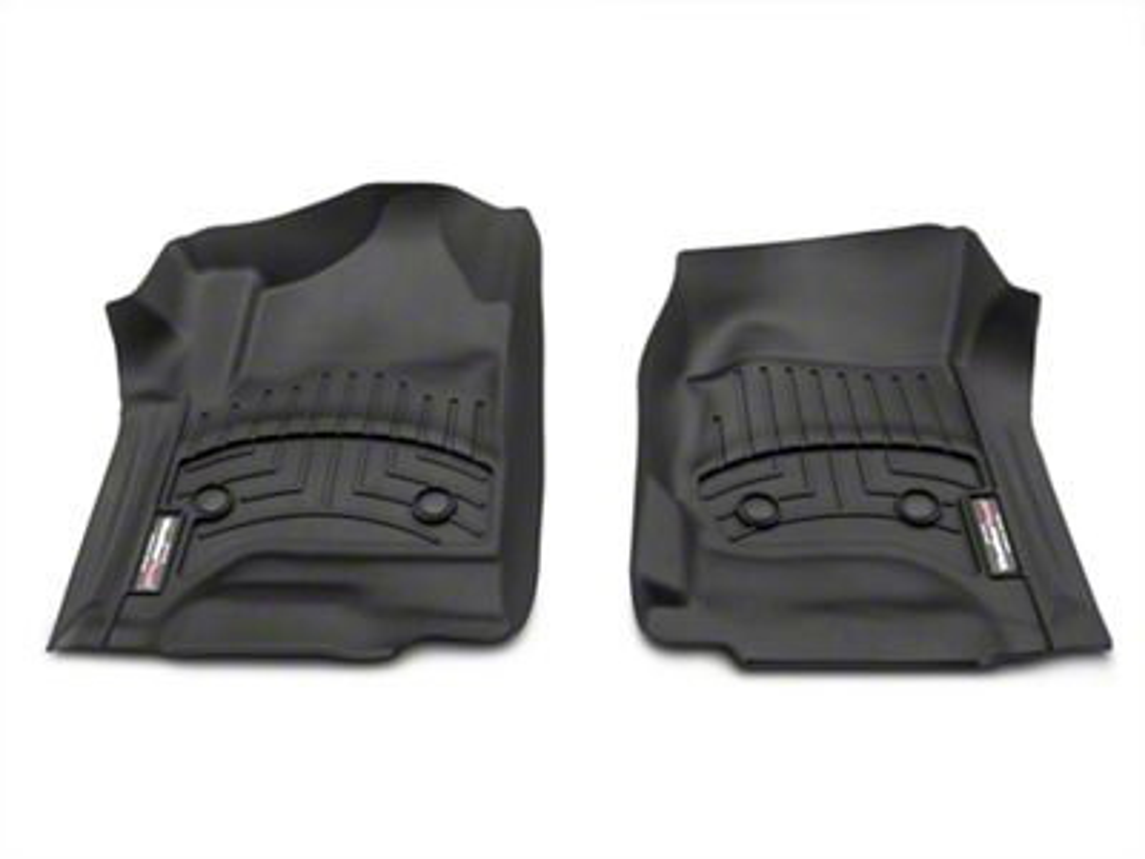 Weathertech DigitalFit Front Floor Liners - Black (14-18 Silverado 1500 Double Cab, Crew Cab w/o Floor Shifter)