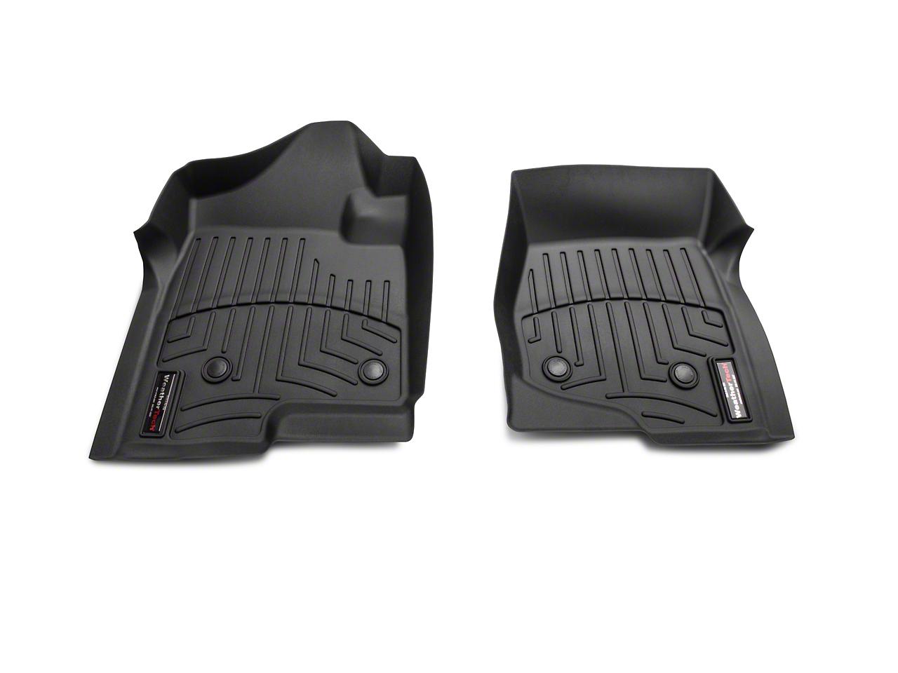 Weathertech DigitalFit Front Floor Liners - Black (07-13 Silverado 1500 w/o Floor Shifter)