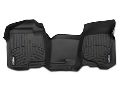 Weathertech DigitalFit Front Floor Liner - Over The Hump - Black (07-13 Silverado 1500 Extended Cab, Crew Cab)