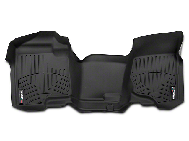 Weathertech DigitalFit Front Floor Liner - Over The Hump - Black (07-13 Silverado 1500)