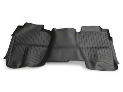 Weathertech DigitalFit Rear Floor Mat - Black (14-18 Silverado 1500 Double Cab)
