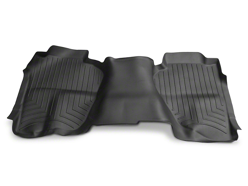 Weathertech DigitalFit Rear Floor Liner - Black (14-18 Silverado 1500 Double Cab, Crew Cab)